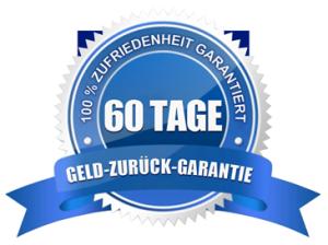 Zufriedenheit garantiert mit der 60-Tage-Geld-zurück-Garantie.