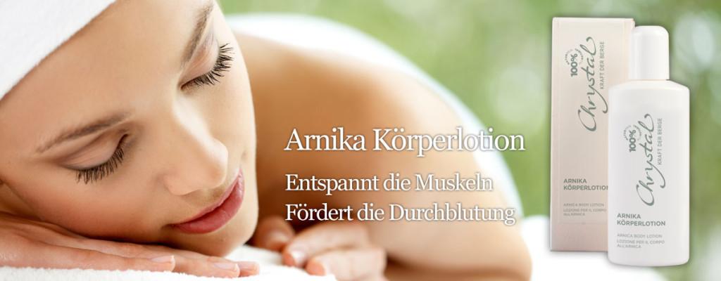 Arnika Körperlotion - Entspannt die Muskeln, fördert die Durchblutung