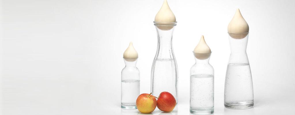 Zirm Drops - Edler Verschluss für Trinkwasser-Karaffen aus Zirbenholz