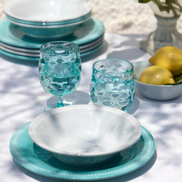 Marine Business Harmony Moon Teller Salatschüsseln Weinglas Wasserglas Acqua Silber - Zitronen
