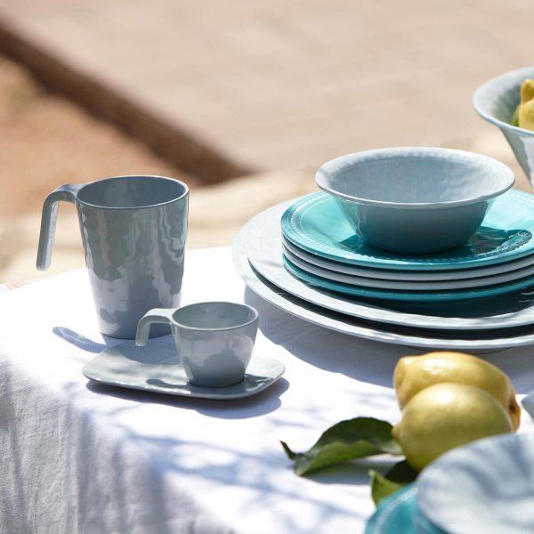 Marine Business Harmony Kaffeetasse Espresso-Tasse Salatschüssel Dessertteller flache Teller Silber Acqua - Zitronen